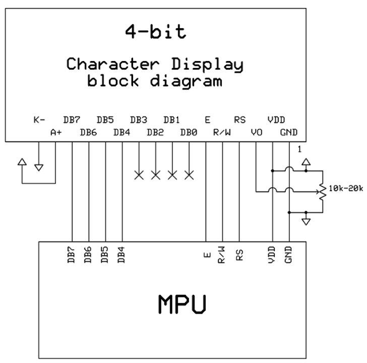 lcd1602 parallel