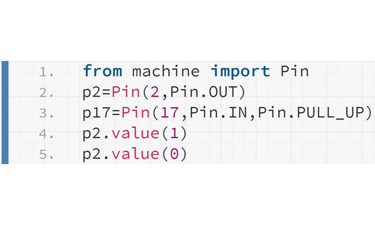 | ESP32 教學 | MicroPython |   PIN Control 控制| 201 |